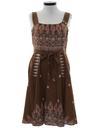 Womens Wrap Style Hippie Dress