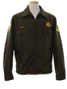 Mens Sheriffs Work Zip Jacket