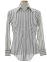 Mens Striped Print Disco Shirt