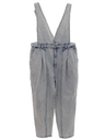 Womens Stone Washed Overall Jeans Denim Pants
