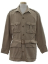 Mens Mod Safari Style Field Jacket