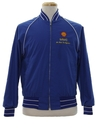 Mens Baseball Style Gas Station Zip Jacket