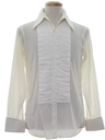 Mens Pleated Tuxedo Shirt