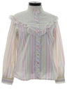 Womens Totally 80s Ruffled Western Shirt