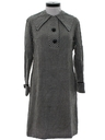 Womens Mod Wool Twiggy Dress