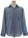 Mens Chambray Work Sport Shirt