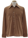 Mens Mod Solid Disco Style Sport Shirt