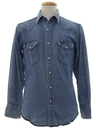 Mens Grunge Denim Western Shirt