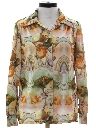Womens Psychadelic Hippie Print Disco Shirt