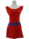 Womens Mod Tennis Mini Dress