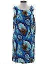 Womens Mod Hawaiian Sheath Dress