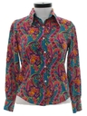 Womens Hippie Style Paisley Print Shirt