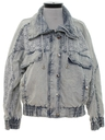 Womens Totally 80s Acid Washed Oversized Fit Denim Jacket