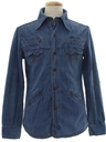 Mens Denim Hippie Shirt Jacket