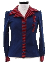 Womens Mod Knit Shirt Jacket Style Shirt