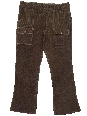 Mens Corduroy Flared Jeans Cut Pants