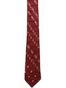Mens Accessories - Skinny Rockabilly Diagonal Stripe Necktie
