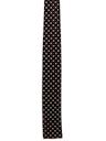 Mens Skinny Flat Bottom Rockabilly Necktie