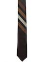 Mens Skinny Diagonal Stripe Necktie