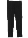 Mens Mod Wool Military Style Flat Front Pants