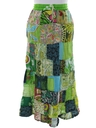 Womens Patchwork Broomstick Hippie Skirt