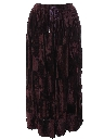 Womens Velvet Hippie Skirt