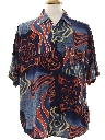 Mens Wicked 90s Graphic Print Club/Rave Style Sport Shirt