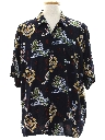 Mens Hawaiian Style Dragon Shirt
