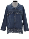Womens Totally 80s Fringed Denim Jacket