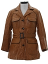 Womens Leather Car Coat Jacket