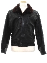 Mens Totally 80s Leather Flight Style Jacket