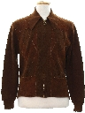 Mens Mod Suede Leather Sweater Jacket