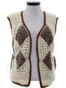 Womens Hippie Crocheted Sweater Vest