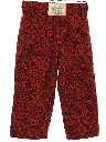Mens Totally 80s Print Baggy Cropped Pants