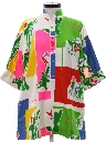 Womens Designer Mod A-line Caftan Mini Dress