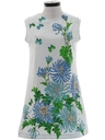 Womens Mod A-Line Hawaiian Style Dress
