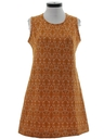 Womens Mod A-Line Knit Dress