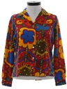 Womens Pow-Flower Flannel Hippie Shirt
