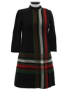 Womens Wool Mod Designer Dress