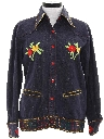 Womens Western Style Denim Hippie Shirt