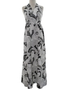Womens Mod Asian Inspired Halter Maxi Dress