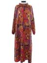 Womens Mod A-Line Muu-Muu Style Caftan Dress