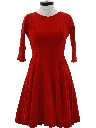 Womens Velvet Cocktail Dress