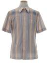 Mens Print Disco Style Sport Shirt