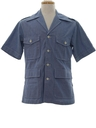 Mens Mod Chambray Safari Shirt