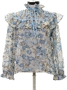 Womens Totally 80s Ruffled Shirt