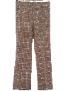 Mens Flared Mod Plaid Disco Pants