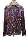 Mens Print Disco Style Costume Club/Rave Shirt