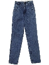 Womens Totally 80s Overdyed Acid Wash Jeans Pants