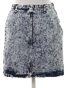 Womens Totally 80s Acid Wash Denim Skirt
